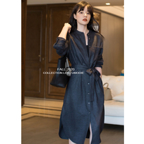 UMOOIE channel customer supply simple atmosphere texture bursting GAO grade gray shirt dress