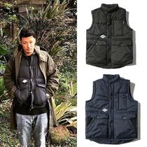 Юй Вэнь ЛЕ с разделом жилет вниз хлопок пальто утолщение прилив бренд теплый жилет молодой японский мужской мага весна и осень