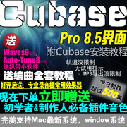 Cubase8 Pro8.5 Chinese arranger recording mixer version of the tutorial plug-in computer music production software