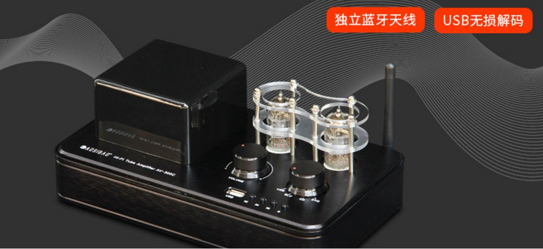 Baggage electronic tube power amplifier professional fever HIFI biliary machine lossless decoding Bluetooth 4.0 small steel gun high power