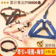 A dog leash dog small medium large cat dog dog collar chain rope Teddy pet products