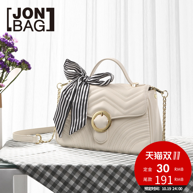 Jane 秋季 秋季 autumn small fragrance chain small bag 2018 new wave Korean version of the wild single shoulder Messenger bag
