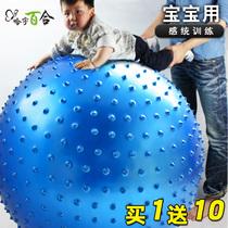 Ha Yu 100cm explosion-proof fitness ball Big dragon ball Yoga ball Baby sensory training childrens environmental massage ball