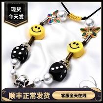 (Отечественное пятно)EVAE жемчуг кубики смайлик Серебряное ожерелье как можно скорее rocky Wu yifan тот же хип-хоп