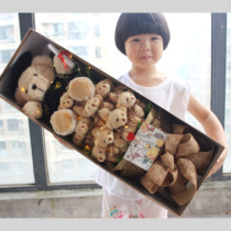 Cartoon Bear Gift Box Doll Rose Dragon Cat sends girlfriend honey customer holiday graduation bouquet gift
