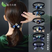 Head rope female Korean Net red minimalist Mori headdress Korean rubber band tie hair rope leather case Hairband ponytail jewelry