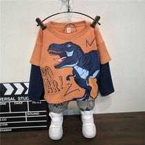 Детская одежда для мальчиков костюм 2020 новый воздушный ребенок весенняя одежда прилив дети весенняя корейская версия хипстер два комплекта