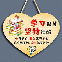 Childrens room inspirational slogan listing college entrance examination student study room incentive kids room bedroom decoration card small pendant
