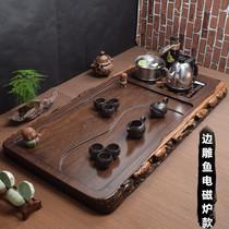 Эбони чайная тарелка с индукционной плитой все-в-одном автоматический чайный набор большой бытовой высококачественный деревянный чай морской чай
