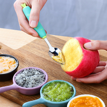 Scraping apple puree spoon baby's auxiliary food tool stainless steel children's tableware eating fruit puree spoon artifact