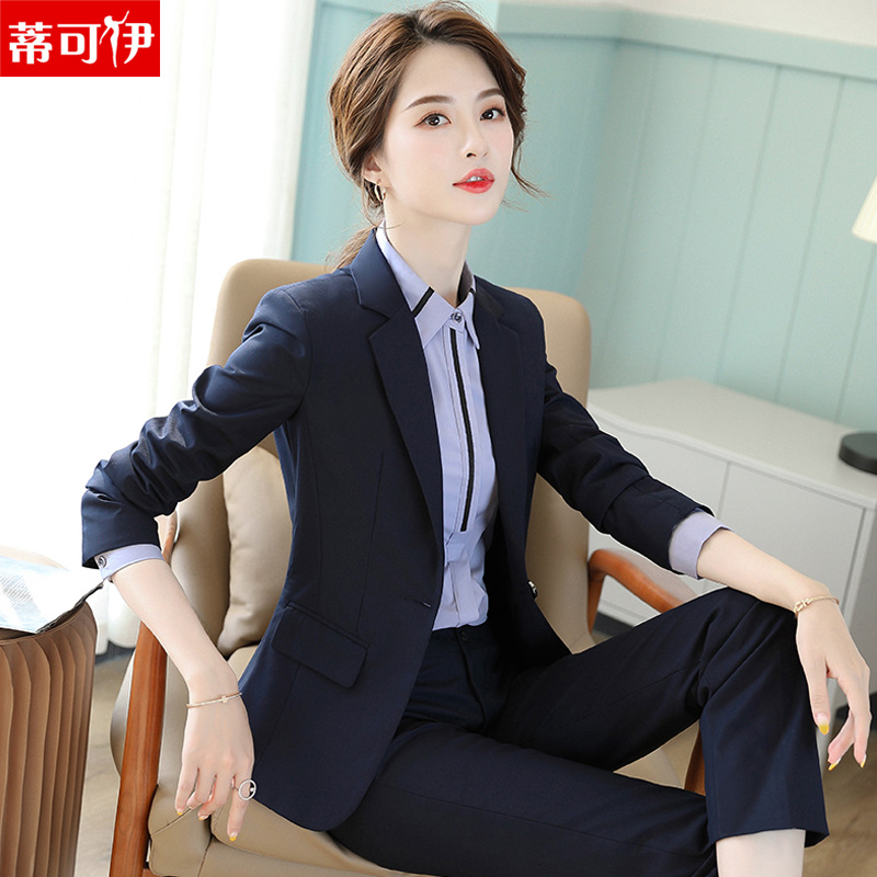 Working clothes women are wearing 2020 spring new temperament suit college students interview hotel front work clothes
