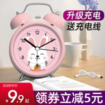 High volume alarm small alarm students with the necessary charging 牀 first hour cartoon children dedicated to silent clock table type