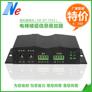 Elevator floor display, video character adder, easy to monitor 7014, analog digital building, display layer