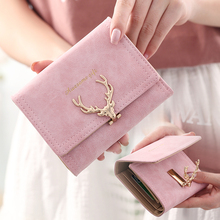 New Short Wallet Female Korean Edition Student Lovely Small Fresh ins Personality Simple Folding Tide Zero Wallet