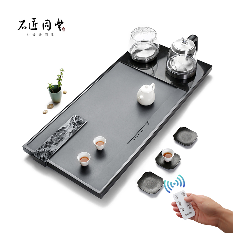 Tea kettle Wujinshi tea plate set fully automatic one household with induction cooker stone kung fu tea set sea