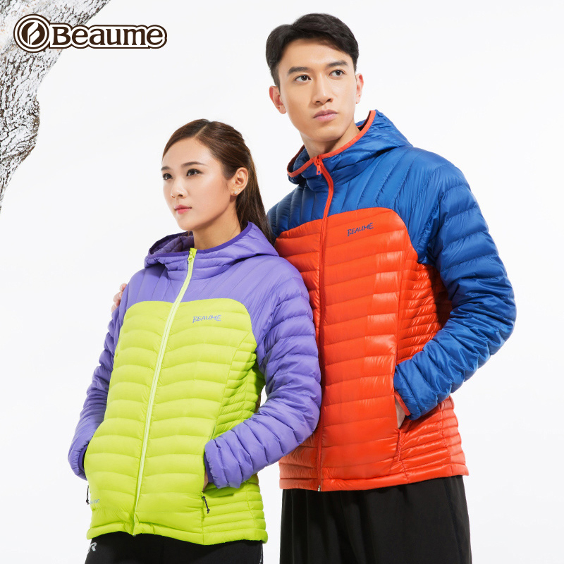 Beaume outdoor light cap down jacket men's down jacket winter 90% White Velvet thermal jacket women