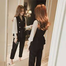 Big size women's clothes early autumn new style 2019 fat mm foreign style slightly fat sister temperament thin very immortal suit three sets