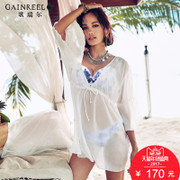 Summer sexy bikinis gather song Riel three piece swimsuit vacation belt blouse split swimsuit pedicle in three Ms.