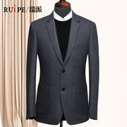Ruipe leisure suit jacket wool coat autumn XL business wool suit slim middle-aged male