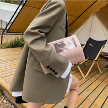 Suit Jacket Women Spring and Autumn 2021 New Korean version of high-grade fried street small man thin temperament casual small suit