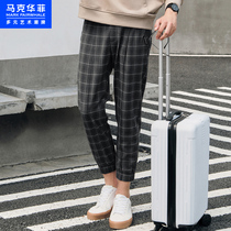 Mark Waffle casual pants mens fall 2020 new Korean version trend with grey lads leggings
