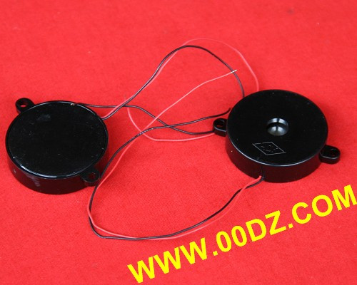 29mm Biaural Piezoelectric Ceramic Buzzer with Shell and Lead with 13 cm Wire Length