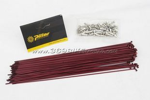Taiwan Pilar Jida R high strength stainless steel spoke wire / anode red 259/261/263