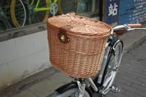 Shanghai Permanent C Store Bicycle Willow Knitting with Cover Basket Folding Bicycle Basket Permanent C Bicycle