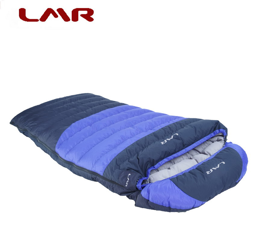LMR Outdoor Equipment Envelope Down Sleeping Bag 600g Adults can Camp in Spring and Autumn to Widen Comfort 0 Degree