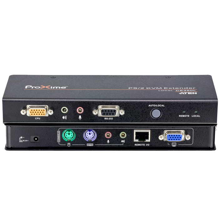New ATEN Macro CE350 KVM Switch Extender PS/2 RS232 Audio Extension 150 m