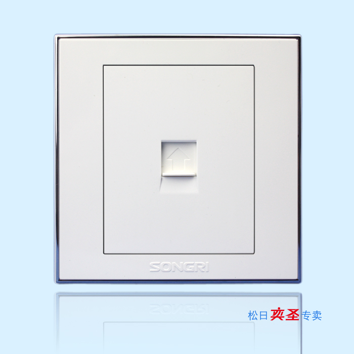 Shanghai Songri Switch and Socket Intelligence Series A Super Five Type Computer Wire Information Socket 616077