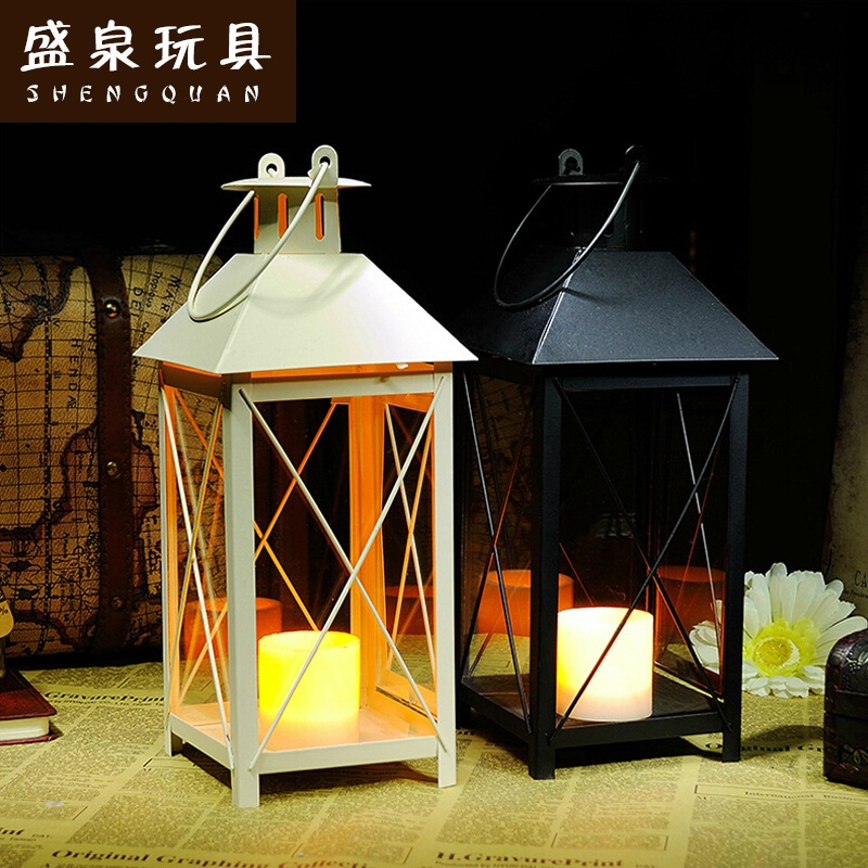Shengquan Romantic warm ancient European candle wedding home decoration iron electronic candle candle