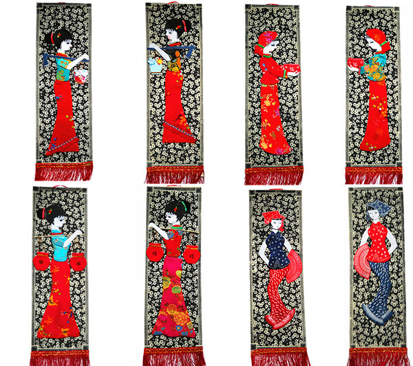 Buy 5 Miao 3-D cloth tapestry murals with Guizhou ethnic characteristics on special price in 2018