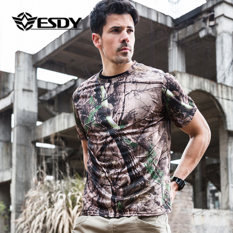 Special Forces Tactical T-shirt Summer Outdoor Quick-drying T-shirt Men's Camouflage Short Sleeves