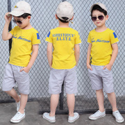 Kids Boys summer 2017 new children 7 8 two sets of 9 short sleeved casual in children 3-5 years of age 11.