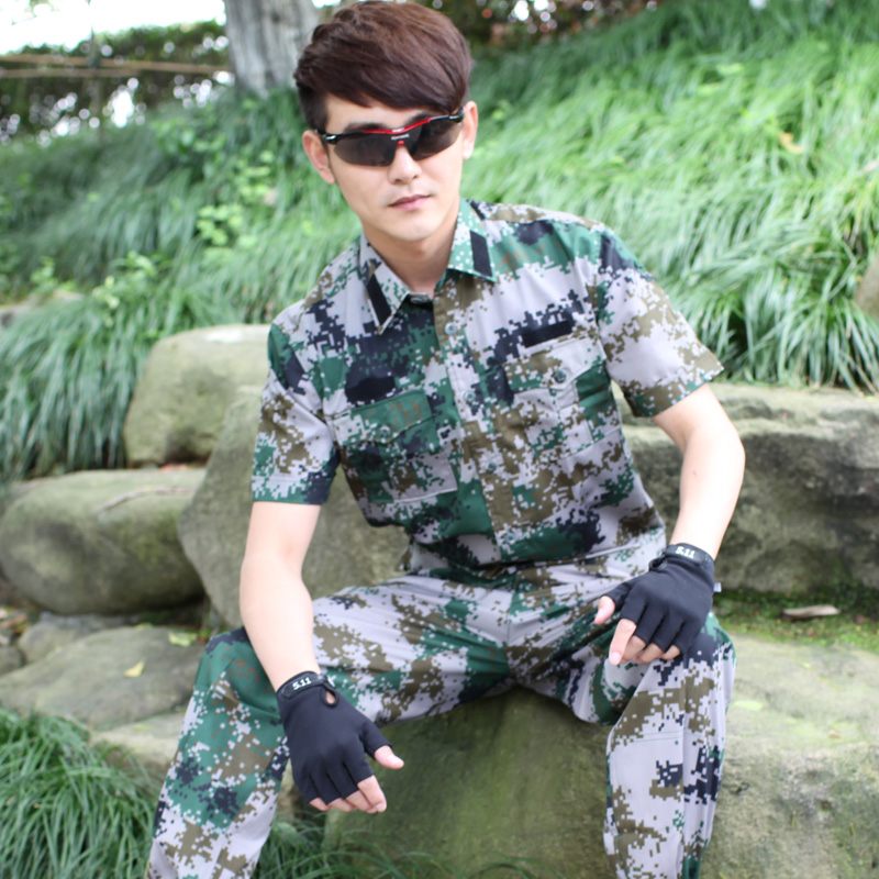 Mountain soldiers outdoor camouflage short sleeve suit men's summer training uniforms special forces camouflage uniform training uniforms overalls