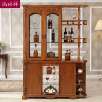 Rui Fu Xiang Furniture European Solid Wood Cabinet Solid Wood American  Porch Wine Cabinet Cabinet Side