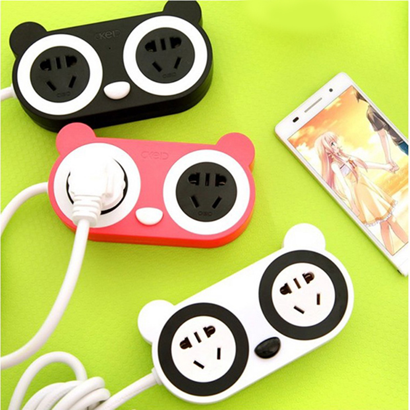 Household creative socket with USB cartoon cute small socket with switch wiring board row socket mobile phone charger