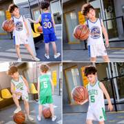 The boy summer suit 2017 new children in big boy children sports vest shorts two piece basketball clothing autumn