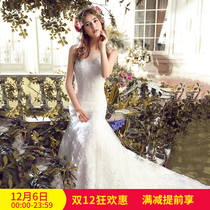 Luxury fish tail wedding dress bride 2016 new Korean wedding word shoulder waist small tail cultivation