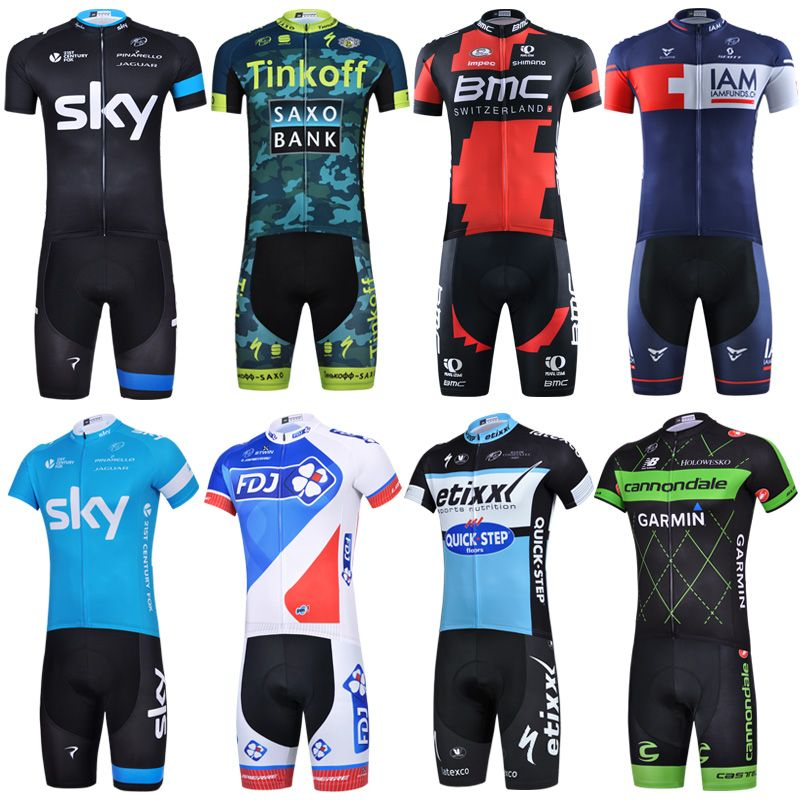 Men's Short Sleeve Bicycle Suit Summer 2017 Breathable Mountain Bicycle Clothing Spring and Summer Motion Bicycle Clothing