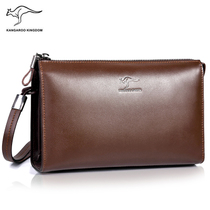 Kangaroo new men Handbag leather soft hand clutch man bag head layer cowhide business large capacity clutch bag