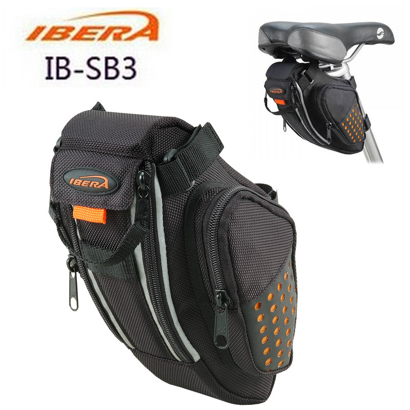 IBERA bicycle tail bag IB-SB3 cushion bag bicycle package road mountain folding tail bag riding equipment