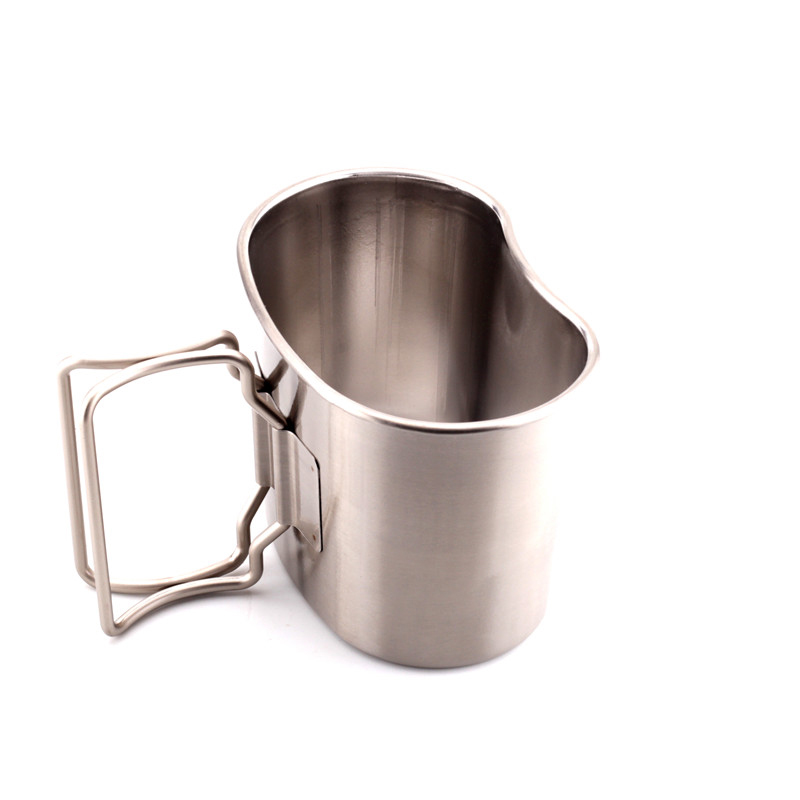 Type 10 small distribution 304 stainless steel lunch box thickening large capacity 600ML< military cup 07 type cup holder