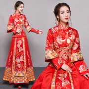 Baby with the bride wedding dress dress show Wo Chinese dress wedding dress 2017 new spring Xiuhe dragon gown