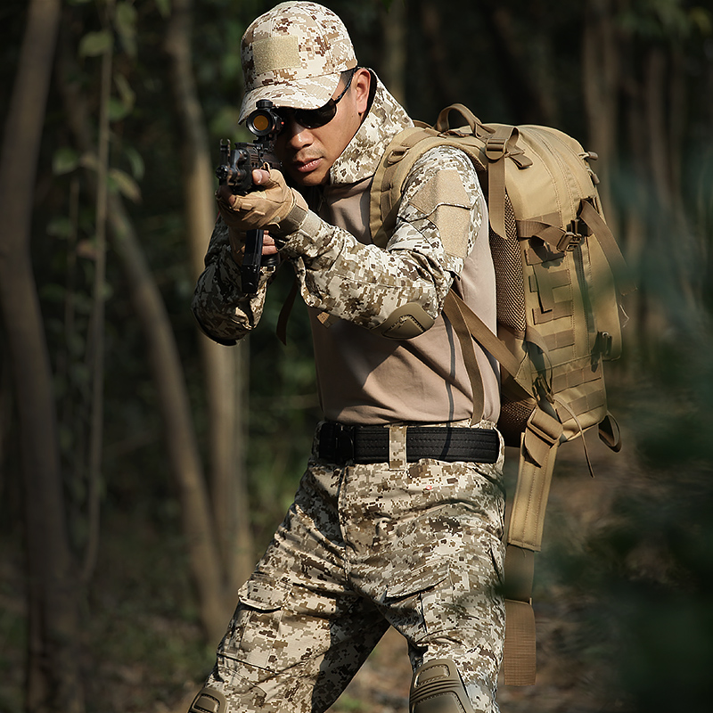 Frog Suit Special Soldier Wolf Camouflage Suit Male Genuine Combat Suit Outdoor Tactical Suit Summer Army Suit