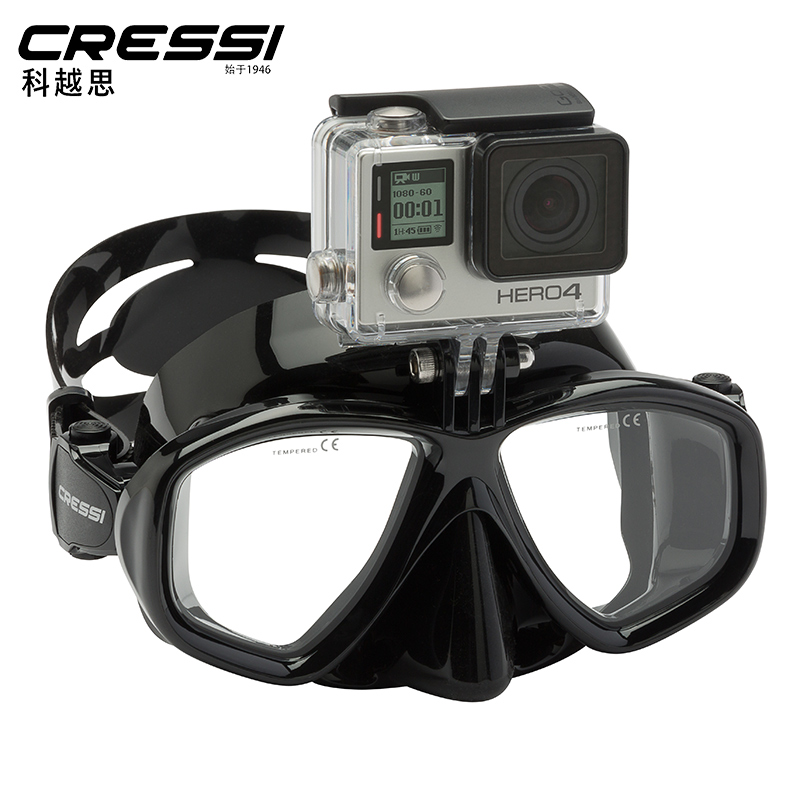 Italy CRESSI ACTION scuba diving scuba diving mask can be installed gopro can be equipped with myopia