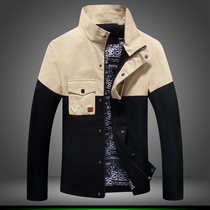 Patchwork jacket casual Men Jacket Autumn Fashion Pocket Jacket