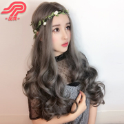 Products show wigs, female big scalp, long curly hair, big wave, false hair sleeve, long hair lifelike, in the top of the sub wig sleeve