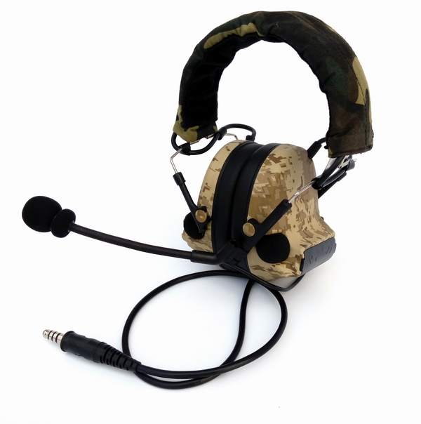 Export Edition 4th Generation Chip Comtac-II Noise Reduction Pickup Headset Desert Digital Camo Desert-Digital